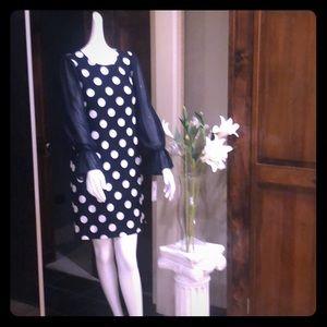 Sheer Long Sleeves Dress Size 6.